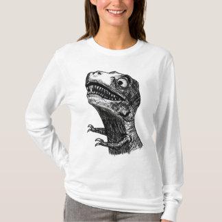 T-Rex Rage Meme - Ladies Long Sleeve T-Shirt