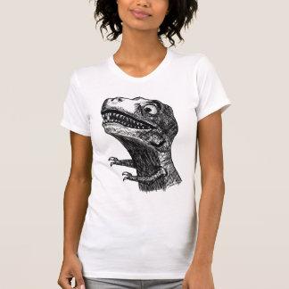 T-Rex Rage Meme - Ladies Petite T-Shirt