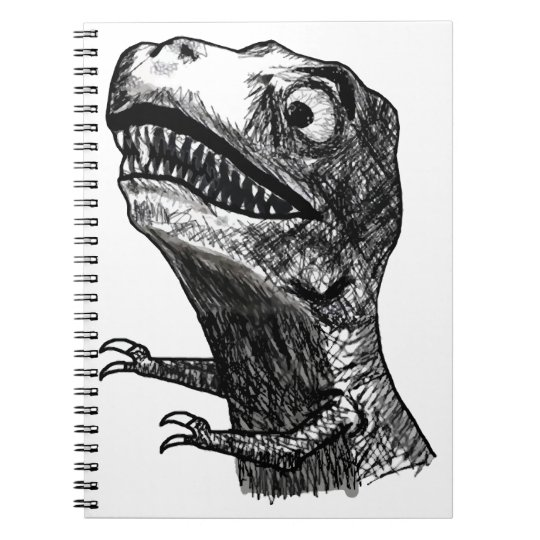 T-Rex Rage Meme - Notebook