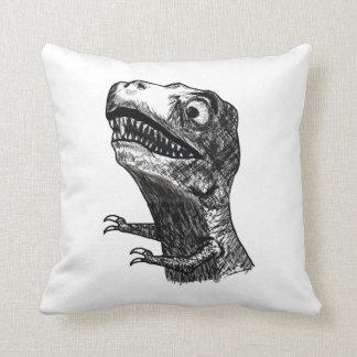 T-Rex Rage Meme - Pillow
