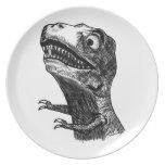 T-Rex Rage Meme - Plate
