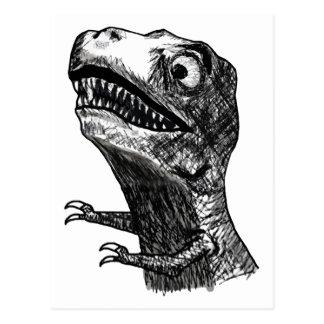 T-Rex Rage Meme - Postcard