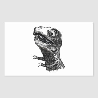 T-Rex Rage Meme - Rectangle Stickers