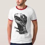 T-Rex Rage Meme - Ringer T-Shirt
