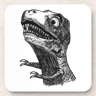 T-Rex Rage Meme - set of 6 Cork Coasters