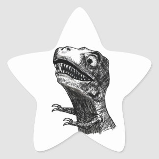 T-Rex Rage Meme - Star Stickers