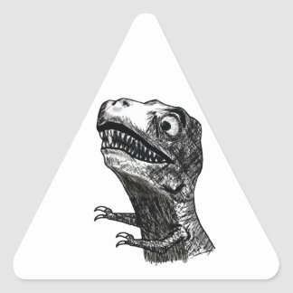 T-Rex Rage Meme - Triangle Stickers