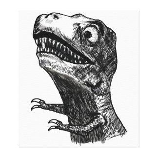 T-Rex Rage Meme - Wrapped Canvas