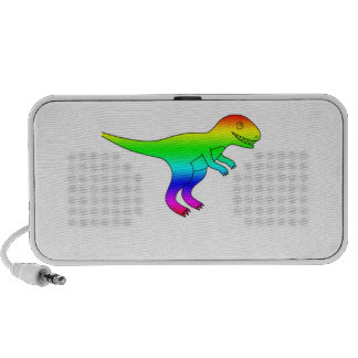 T-Rex Rainbow Funny Natural PC Speakers
