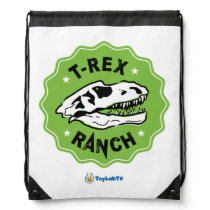 T-Rex Ranch Bag - Drawstring with Dinosaur