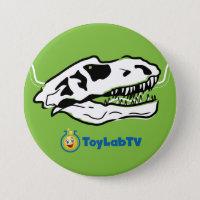 T-Rex Ranch Button with Dinosaur