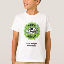 T-Rex Ranch Kids Park Ranger, White T-Shirt