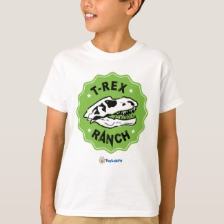 T-Rex Ranch Kids T-Shirt with Dinosaur
