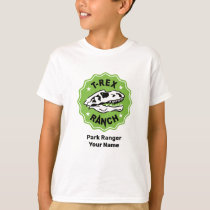 T-Rex Ranch Park Ranger White Kids T-Shirt
