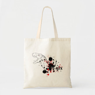 T-Rex (Red and Black) Tote Bag