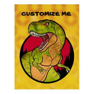 T-Rex red background Postcard