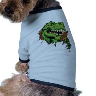 T Rex Rips Dog T Shirt