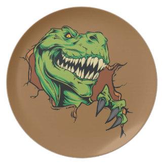 T Rex Rips Plate