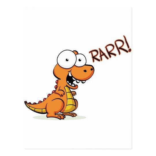 T-rex roaring postcard