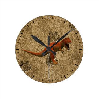 T Rex Round Clock