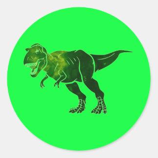 T-Rex Round Stickers