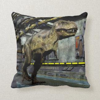 T-Rex Science Fiction Throw Pillow