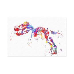 T Rex skeleton Canvas Print