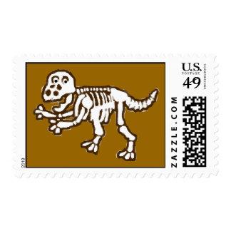 T-Rex Skeleton Postage Stamp
