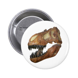 T-rex Skull 2 Inch Round Button