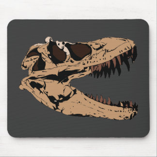 T-Rex Skull Mouse Pad