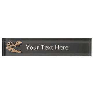 T-Rex Skull Nameplate