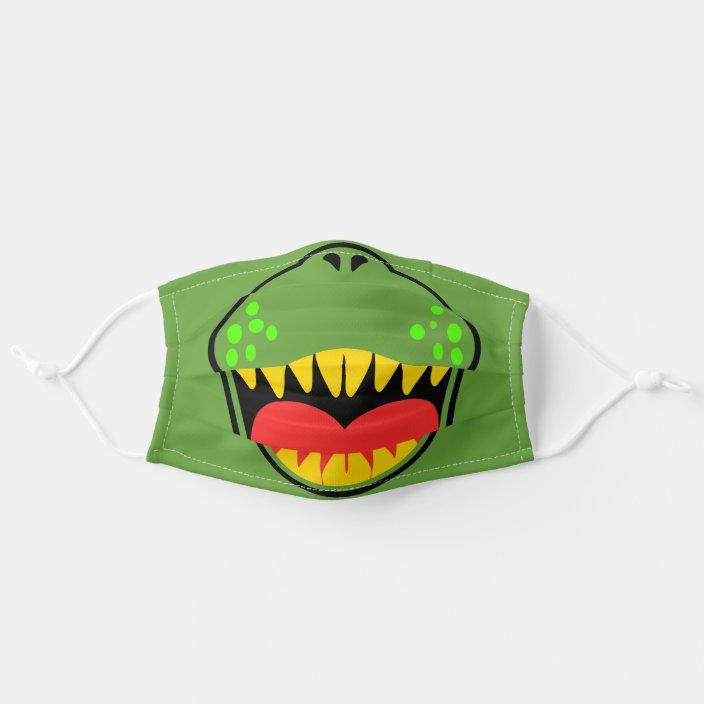 T Rex Smile Cloth Face Mask Zazzle Com