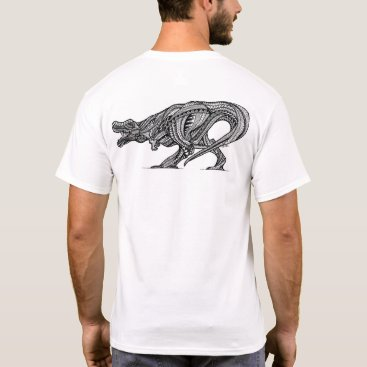 Beach Themed T-Rex T-Shirt