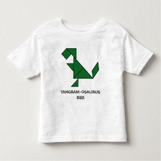T-Rex + Tangrams = Tangram-osaurus Rex Toddler T-shirt