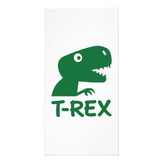 T-Rex Plantilla Para Tarjeta De Foto