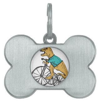 T-Rex Tri Wheel Pet ID Tag