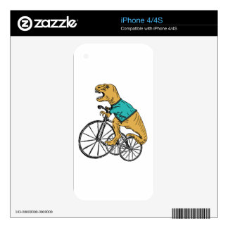 T-Rex Tri Wheel Skins For iPhone 4