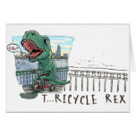 T Rex Tricycle Card