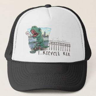 T Rex Tricycle Trucker Hat