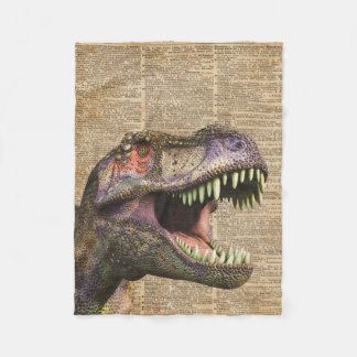 T-rex, tyrannosaurus, arte de la antigüedad del manta de forro polar
