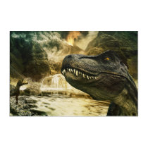 T rex tyrannosaurus dinosaur acrylic print