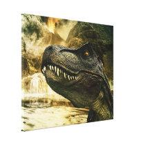 T rex tyrannosaurus dinosaur canvas print