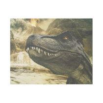 T rex tyrannosaurus dinosaur gallery wrap