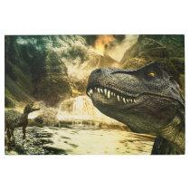 T rex tyrannosaurus dinosaur metal print