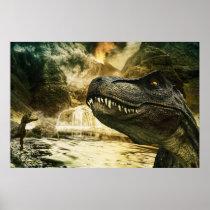 T rex tyrannosaurus dinosaur poster