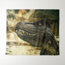 T rex tyrannosaurus dinosaur tapestry