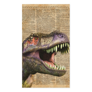 T-rex,tyrannosaurus,dinosaur Vintage Antique Art Business Card