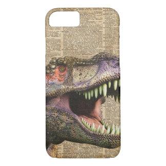 T-rex,tyrannosaurus,dinosaur Vintage Antique Art iPhone 8/7 Case