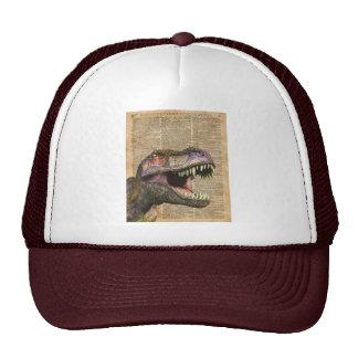 T-rex,tyrannosaurus,dinosaur Vintage Antique Art Trucker Hat