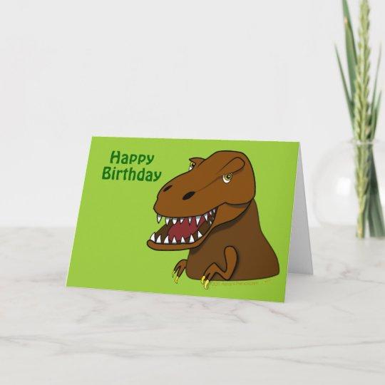 T Rex Tyrannosaurus Dinosaur Birthday Card